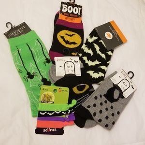 Accessories - Glow in the Dark Fall Fun Socks & Hairties w socks